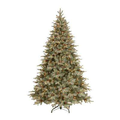 7.5 ft. Feel-Real Alaskan Spruce Artificial Christmas Tree with Pinecones and 750 Clear Lights