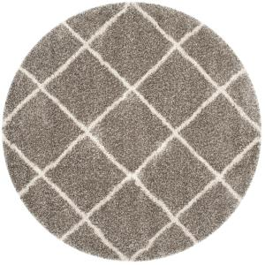 Safavieh Hudson Shag Gray/Ivory 9 ft. x 9 ft. Round Area Rug by Safavieh