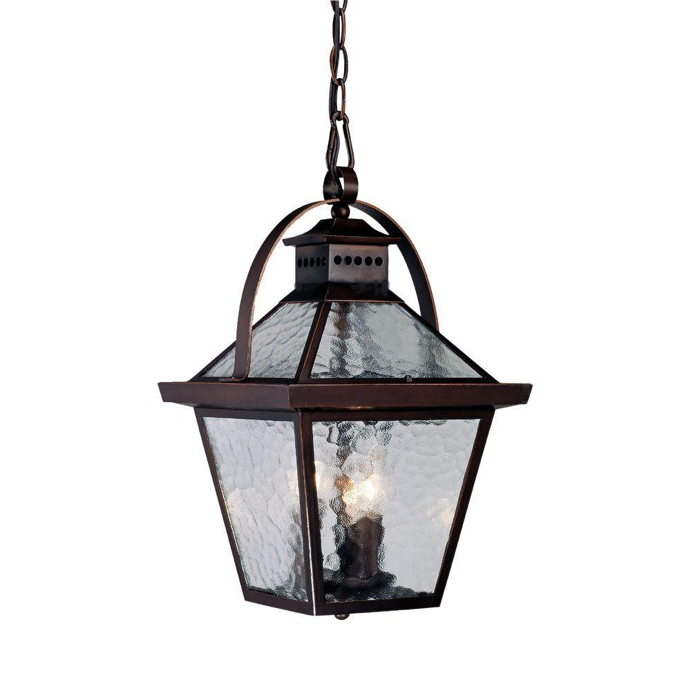 outdoor hanging porch lights acclaim lighting bay street collection 3light architectural bronze outdoor hanging lantern