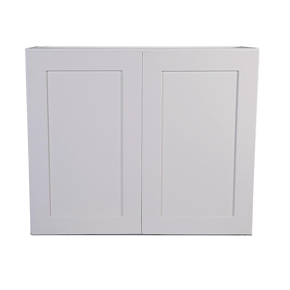 Design House Brookings Plywood Assembled Shaker 36x24x12 in. 2-Door Wall Kitchen Cabinet in White