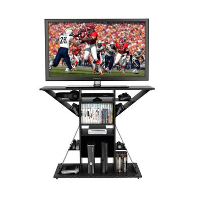 """Phoenix Black Gaming Hub (Fits TVs up to 42"""" and up to 3 gaming consoles)"""