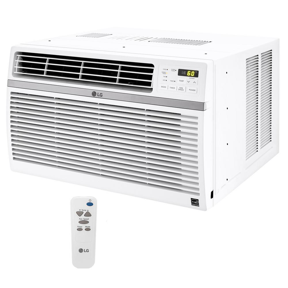 LG Electronics 8,000 BTU 115-Volt Window Air Conditioner with Remote and ENERGY STAR in White