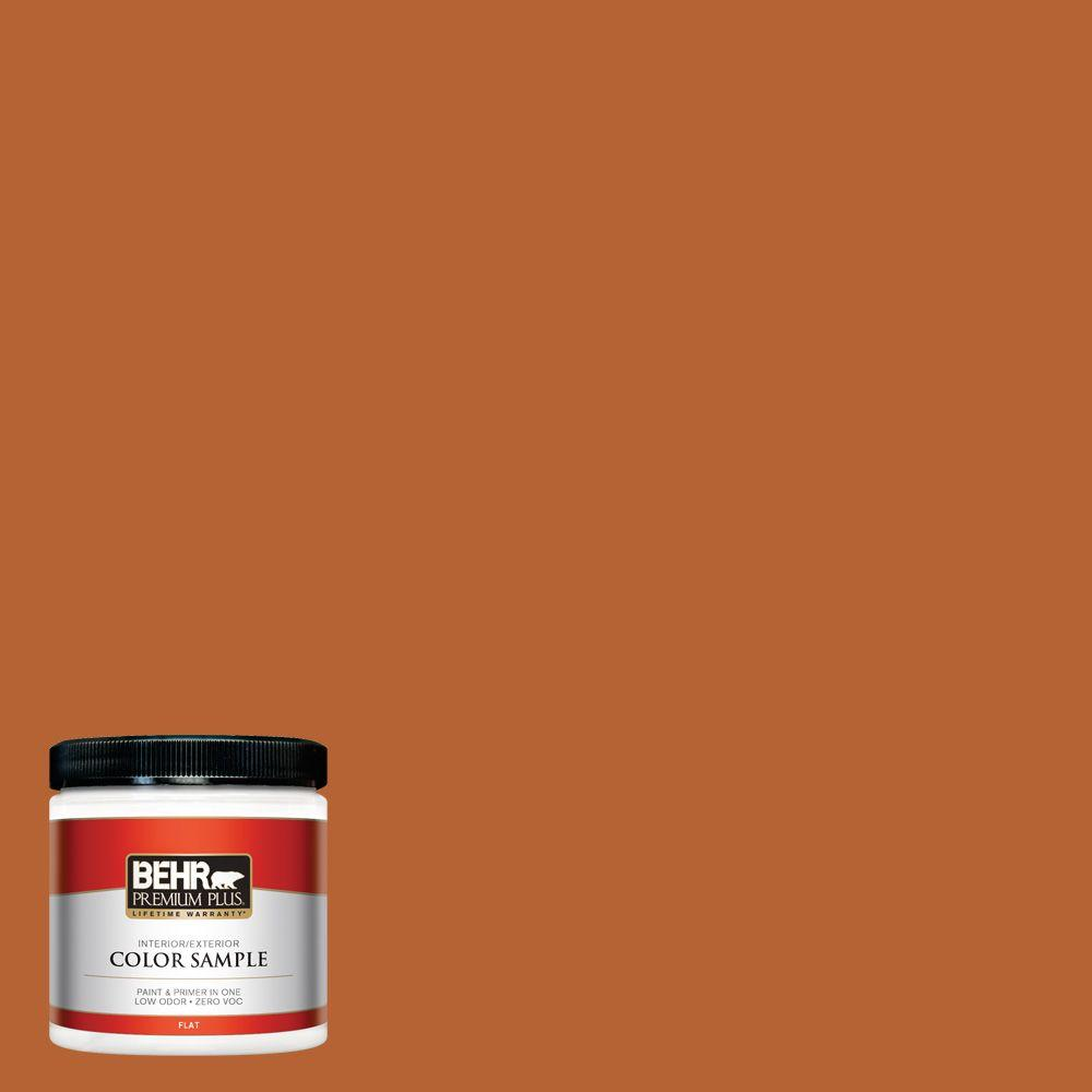 BEHR Premium Plus 8 oz. #250D-7 Caramelized Orange Interior/Exterior Paint Sample