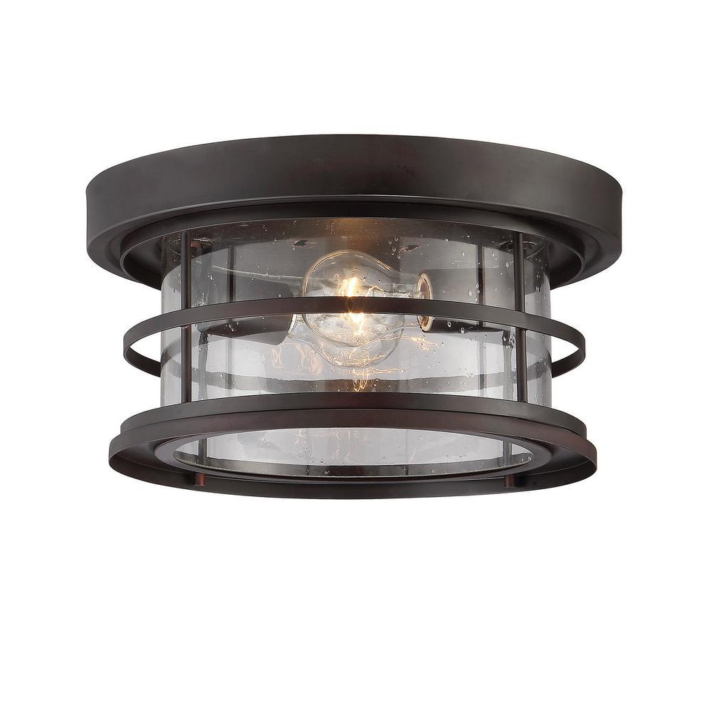 Filament Design 2-Light English Bronze Outdoor Hanging Ceiling Light