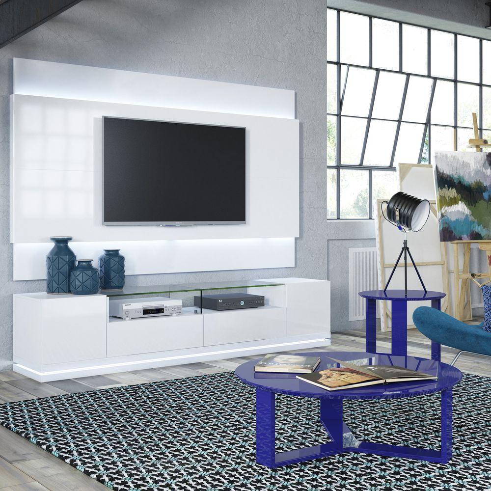 Superieur Manhattan Comfort Vanderbilt White Gloss Entertainment Center