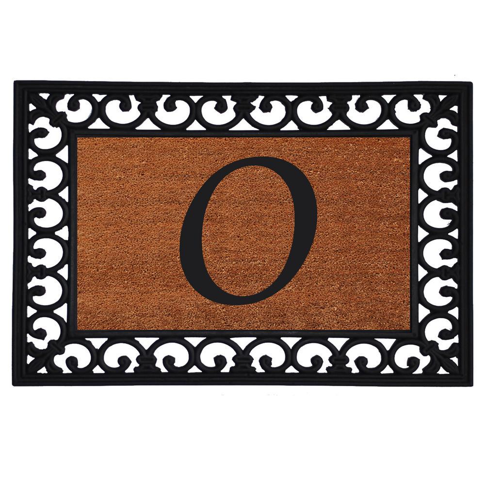 Monogram Insert Door Mat 19 in. x 25 in. (Letter O), Multi