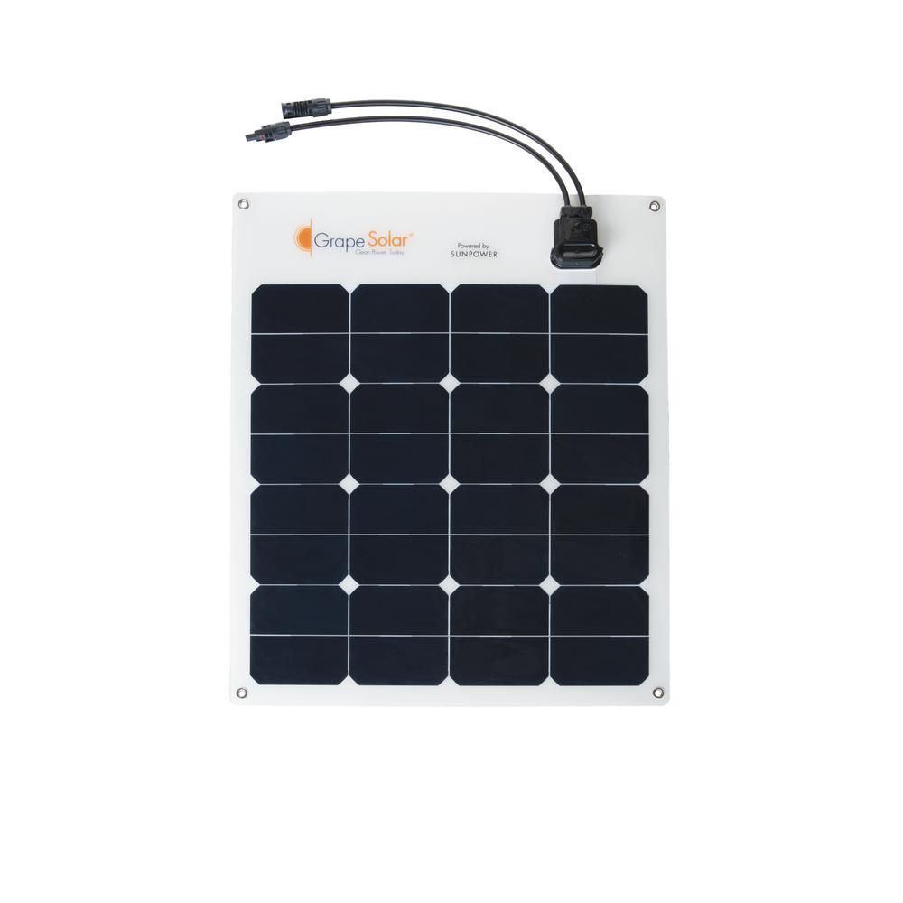 50-Watt Flexible Monocrystalline Solar Panel