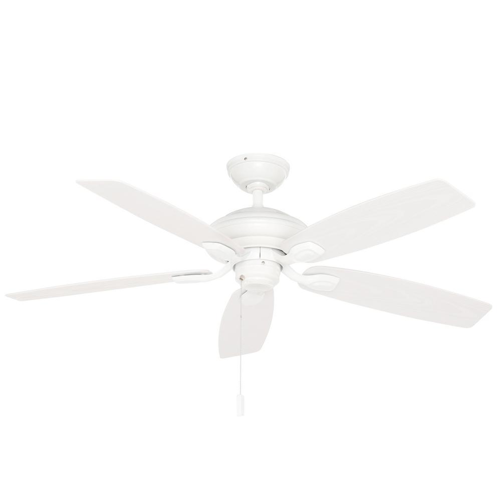 Utopian 52 in. Indoor/Outdoor Snow White Ceiling Fan
