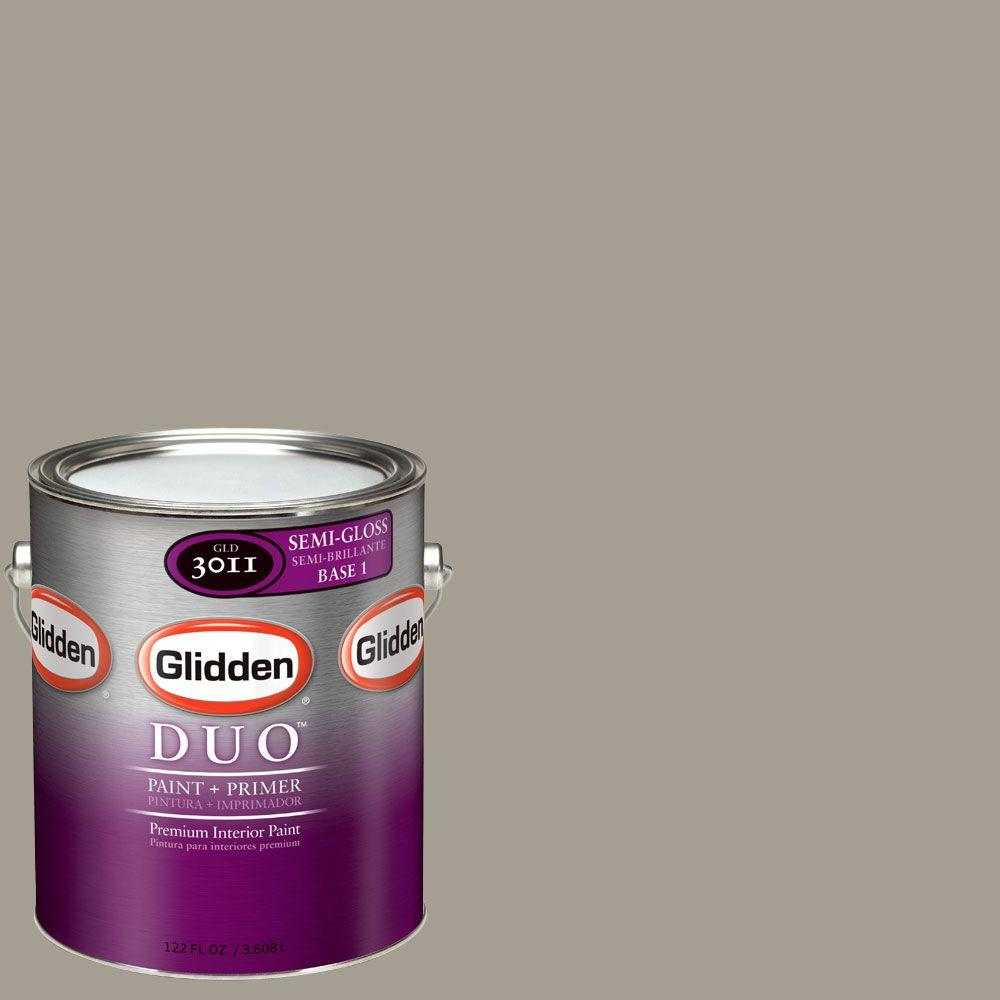 Glidden DUO Martha Stewart Living 1-gal. #MSL247-01S Flagstone Semi-Gloss Interior Paint with Primer - DISCONTINUED