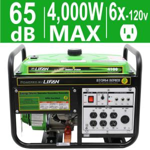 LIFAN Energy Storm 4,000-Watt 211cc 7 MHP Gasoline Powered Portable Generator with Extra 120-Volt Outlets by LIFAN