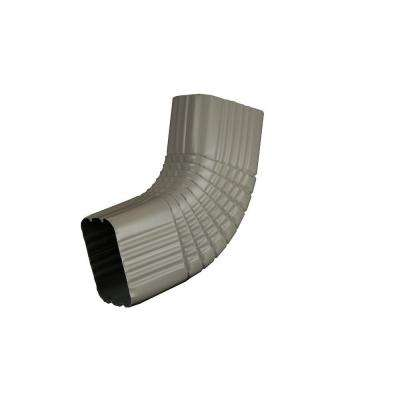 2 in. x 3 in. Pearl Gray Aluminum Downspout B Elbow