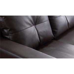 Superb Brown Small Space Convertible Sectional Sofa 73030 40Br Beatyapartments Chair Design Images Beatyapartmentscom