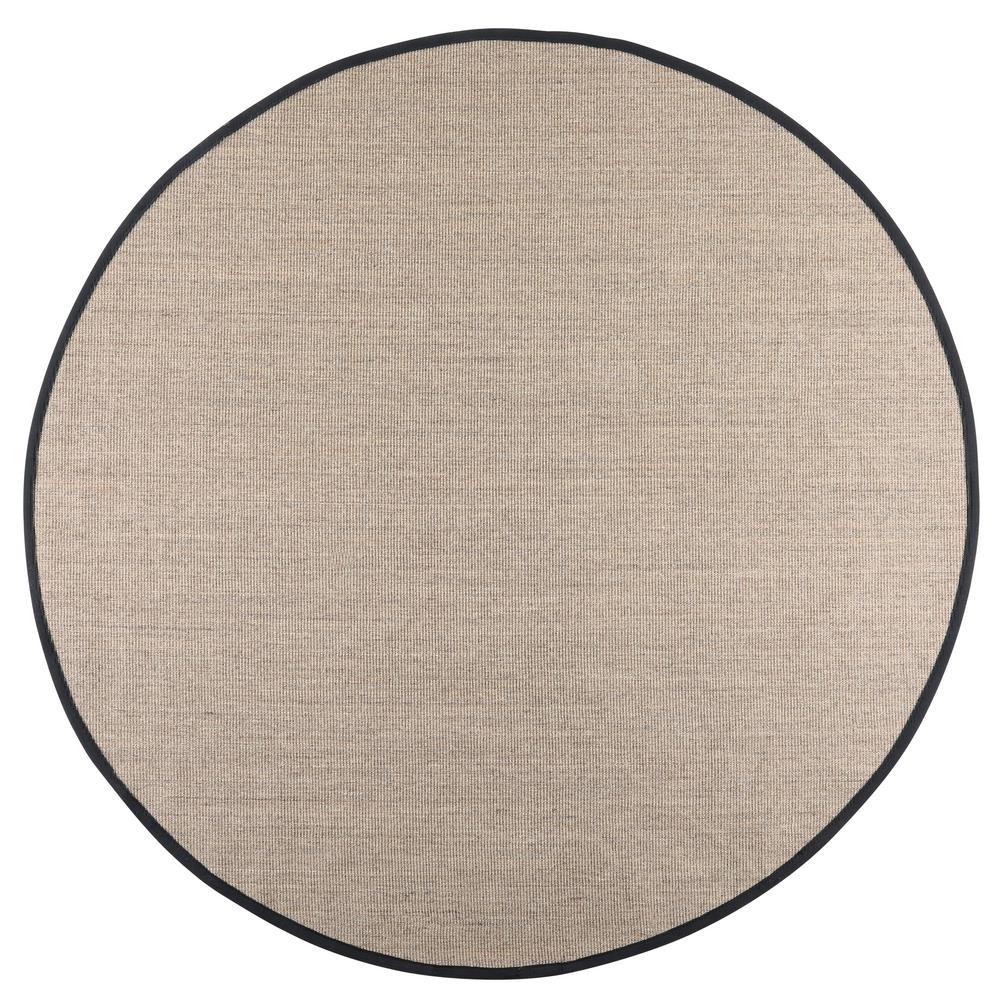 home decorators collection freeport coast  black 8 ft  x 8 ft  round area rug-l0