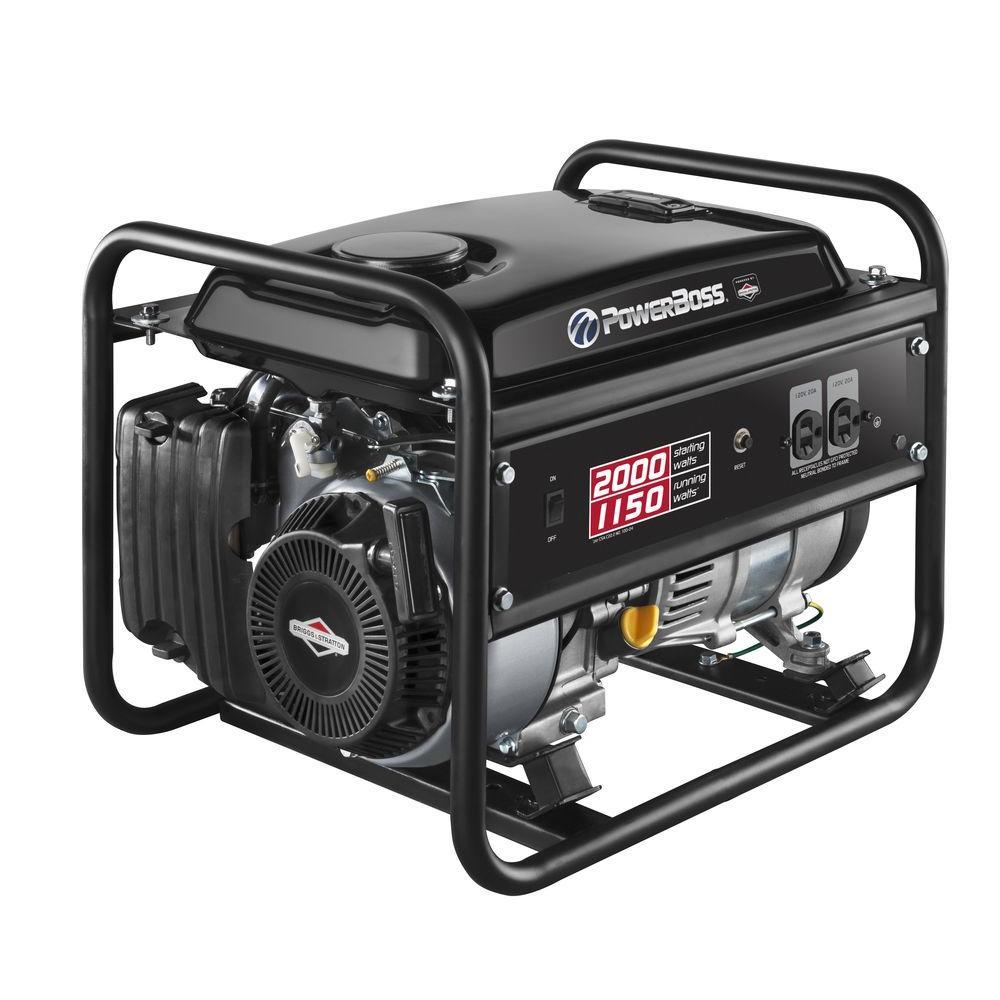 PowerBoss 1,150-Watt Gasoline Powered Recoil Start Portable Generator with Briggs & Stratton Engine by PowerBoss