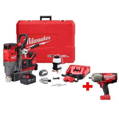 M18 FUEL 18-Volt Lithium-Ion Brushless 1-1/2 in. Lineman Magnetic Drill Kit w/ Free M18 FUEL 1/2 in. Impact Wrench