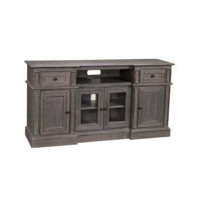Sullivan 60 in. Cloud Gray Composite TV Stand with 2 Drawer Fits TVs Up to 65 in. with Storage Doors