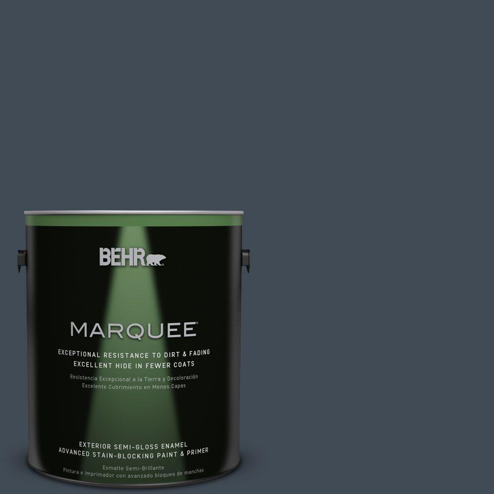 1-gal. #QE-56 Club Navy Semi-Gloss Enamel Exterior Paint