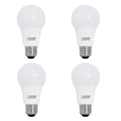 40-Watt Equivalent A19 Dimmable CEC Title 24 Compliant LED ENERGY STAR 90+ CRI Light Bulb, Bright White (4-Pack)