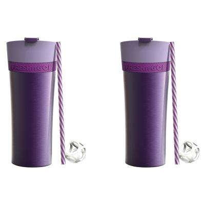 2-Piece Purple 17 oz. Fresh N Go Tumbler Set