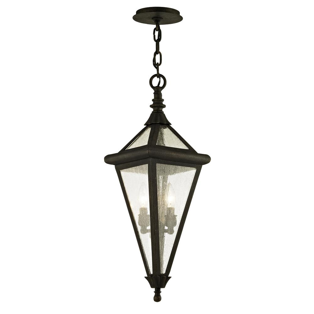 Geneva Vintage Bronze 2-Light 8.25 in. W Outdoor Hanging Light with