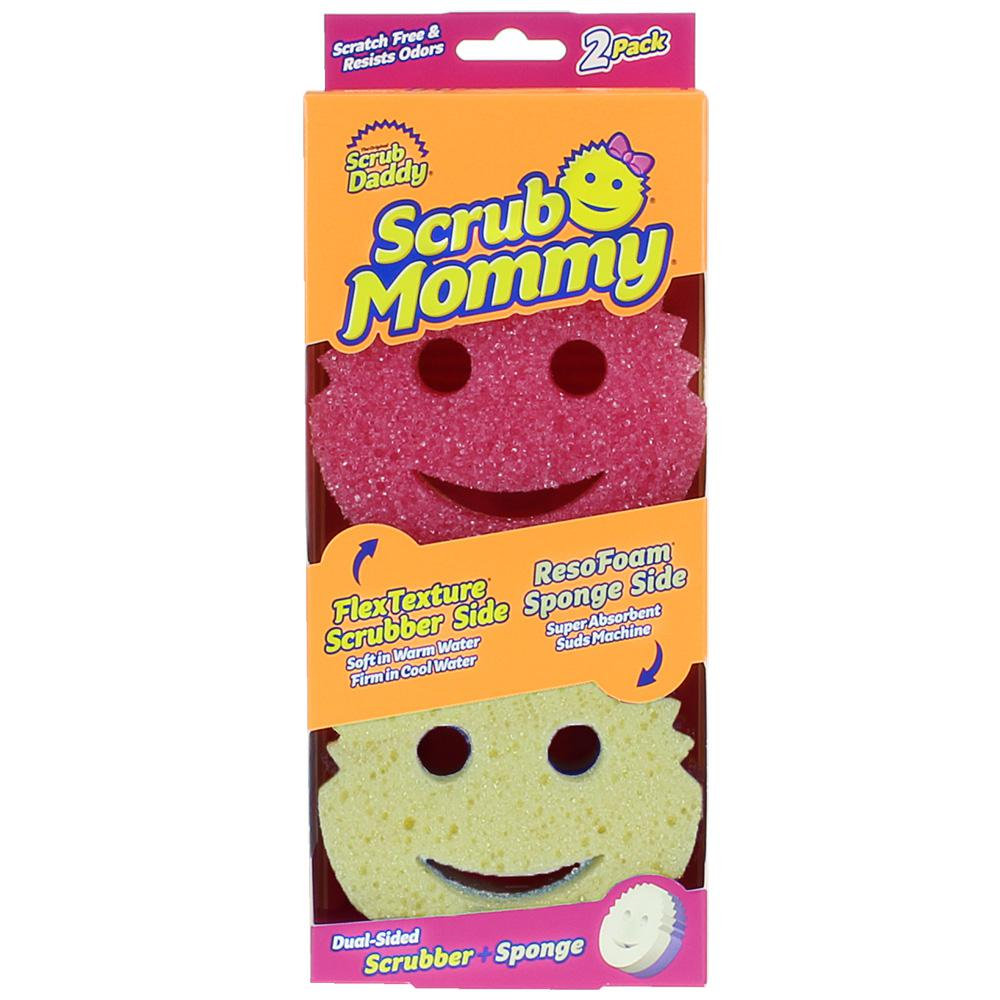 6 Count Scrub Daddy Scratch Free /& Resists Odors Scrub Mommy Dual-Sided Scrubber and Sponge