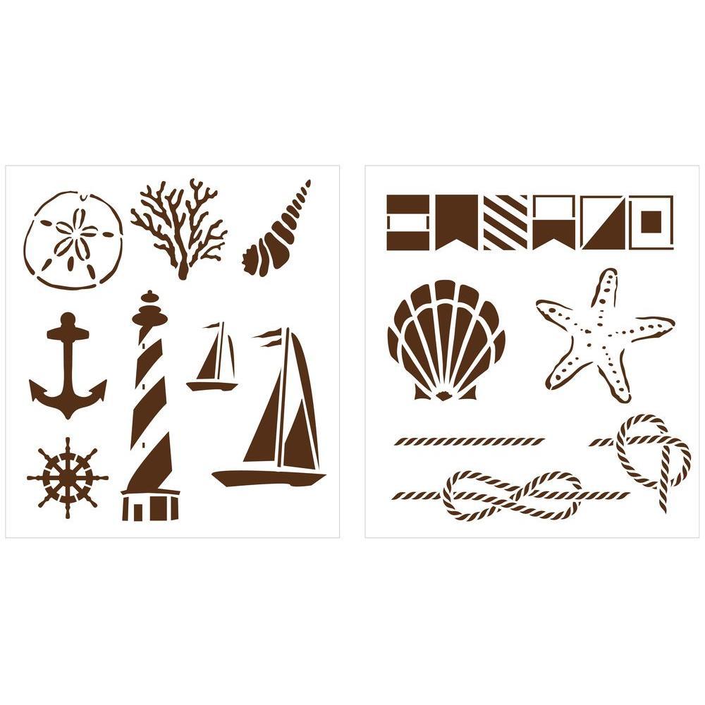 Martha Stewart Crafts Nautical Study Laser-Cut Stencils