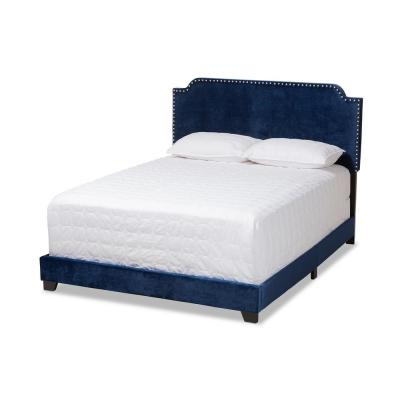 Darcy Navy Blue Queen Bed