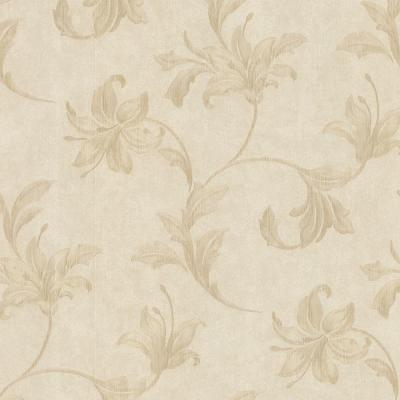 Palace Neutral Floral Scroll Wallpaper