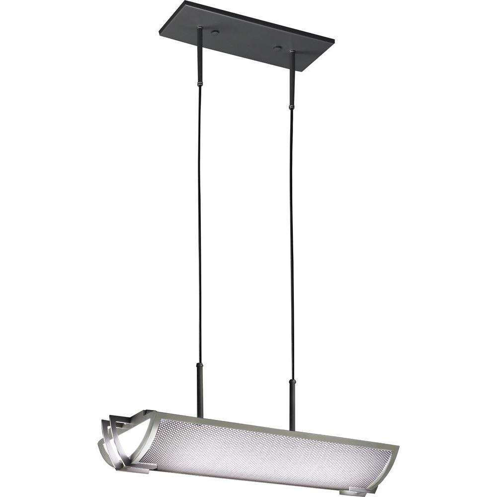 Filament Design 275 in. Ceiling Long Satin Pewter Pendant with 1 Energy Efficient-Light