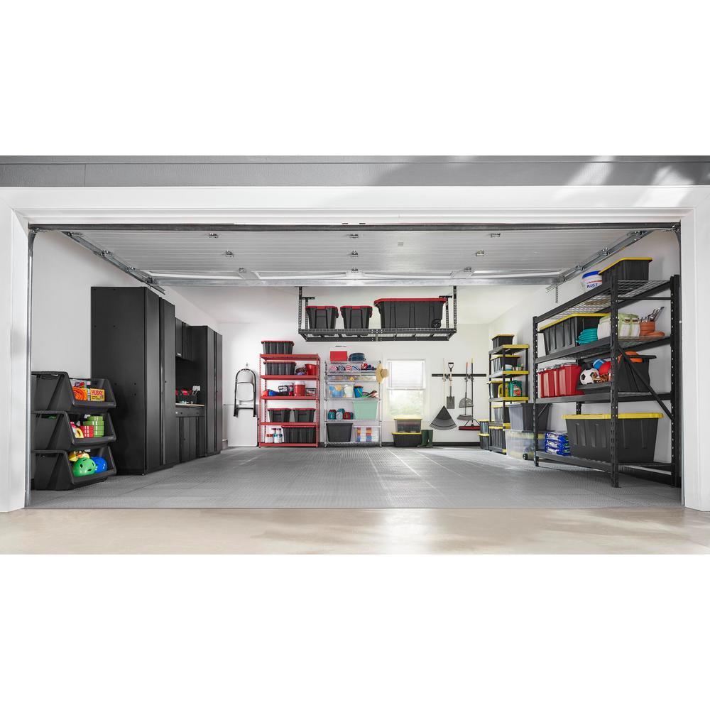 18.4 in. x 18.4 in. Gray Commercial PVC Garage Flooring Trim Kit