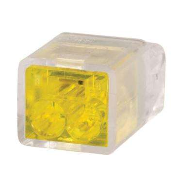 Yellow 2 Port Push-In Wire Connector (100-Pack)