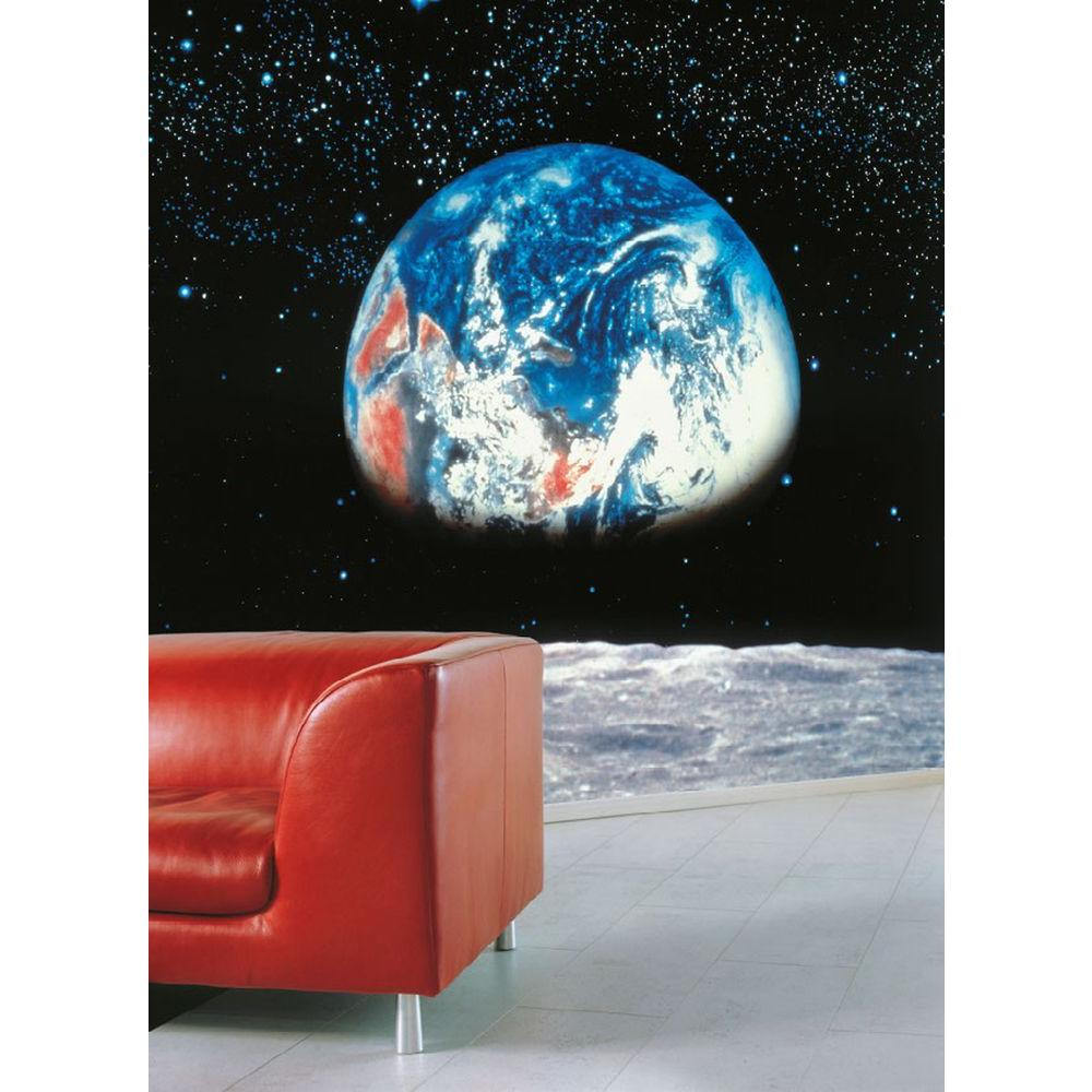 Komar 106 in x 153 in earth moon wall mural 8 019 the for Earthrise mural