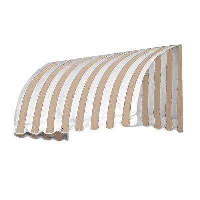 4 ft. Savannah Window/Entry Awning (31 in. H x 24 in. D) in Linen/White Stripe