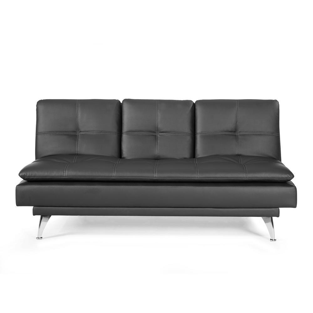 Attirant Relax A Lounger Black Morgan Convertible Sofa