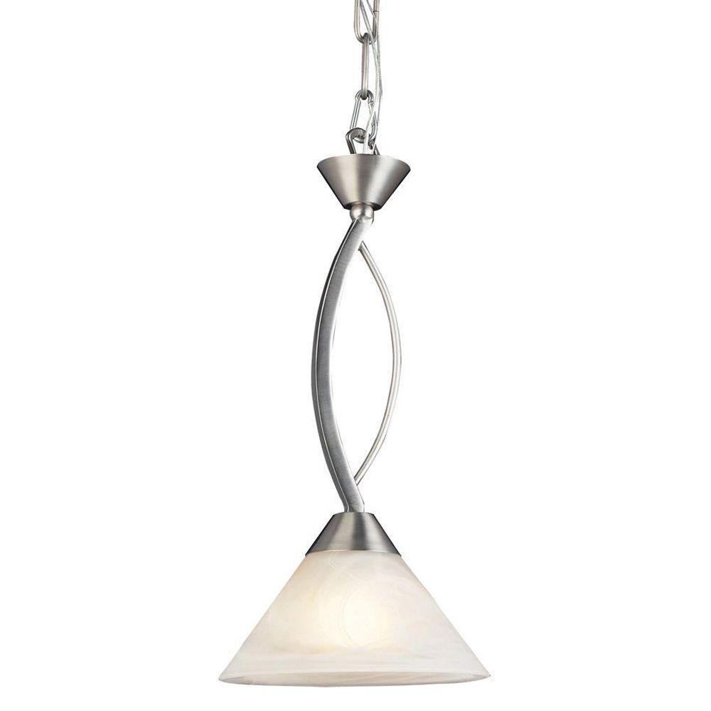 Elysburg 1-Light Satin Nickel Ceiling Mount Pendant