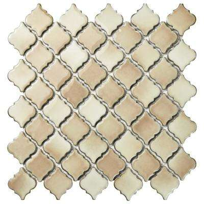 Hudson Tangier Truffle 12-3/8 in. x 12-1/2 in. x 5 mm Porcelain Mosaic Tile