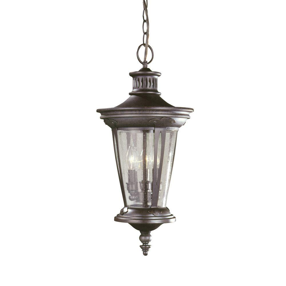 World Imports North Hampton 3-Light Outdoor Old Bronze Hanging Lantern