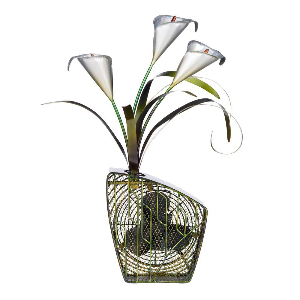 Deco Breeze 7 in. Figurine Fan-Calla Lilies-DISCONTINUED