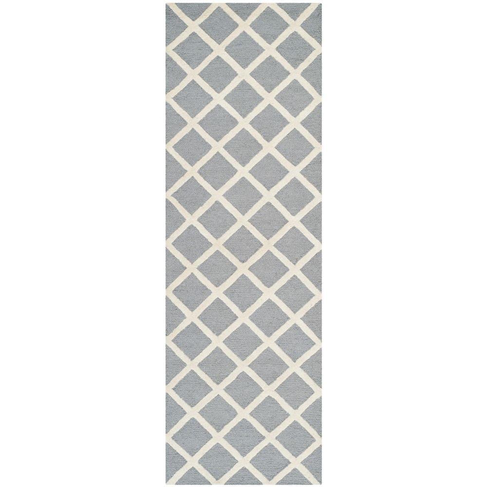 Cambridge Silver/Ivory 3 ft. x 10 ft. Runner Rug