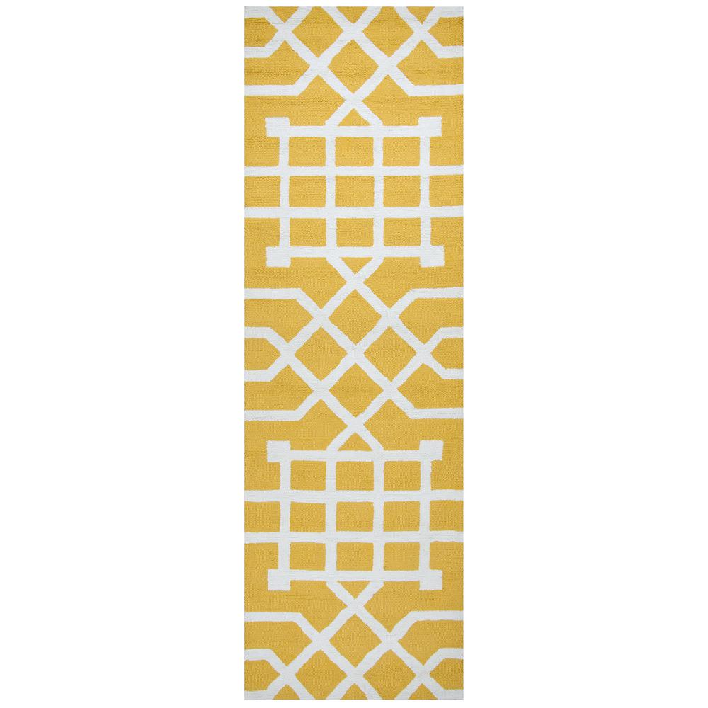 Rizzy Home Azzura Hill Yellow Geometric 3 ft. x 8 ft. Outdoor Runner Rug was $102.74 now $41.1 (60.0% off)