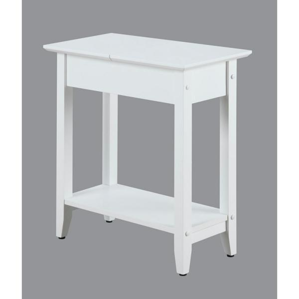 American Heritage White Flip Top End Table