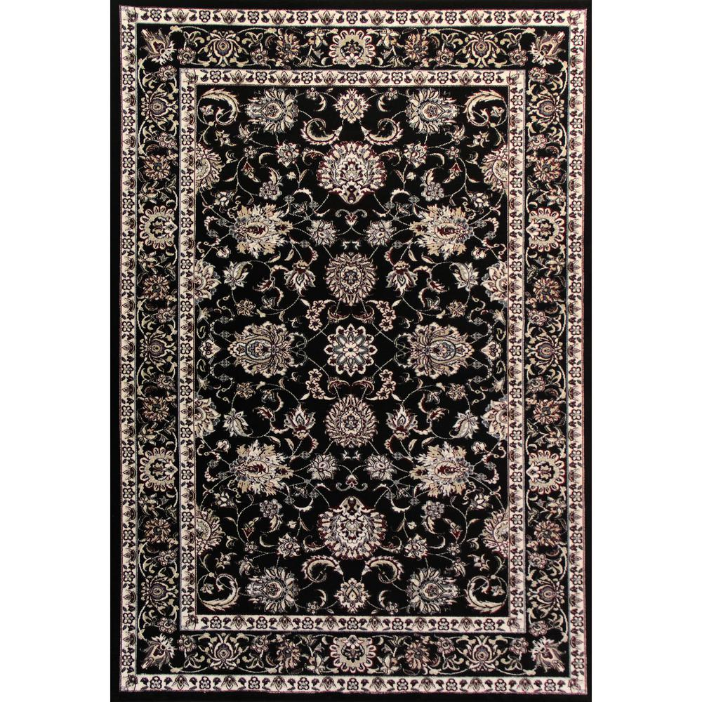 Oriental Rugs Grand Rapids: Art Carpet Arabella Traditional Border Black 4 Ft. X 6 Ft