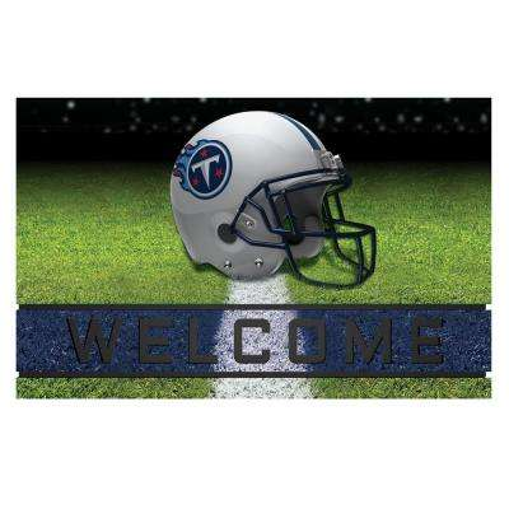 NFL - Tennessee Titans 18 in. x 30 in. Rubber Door Mat