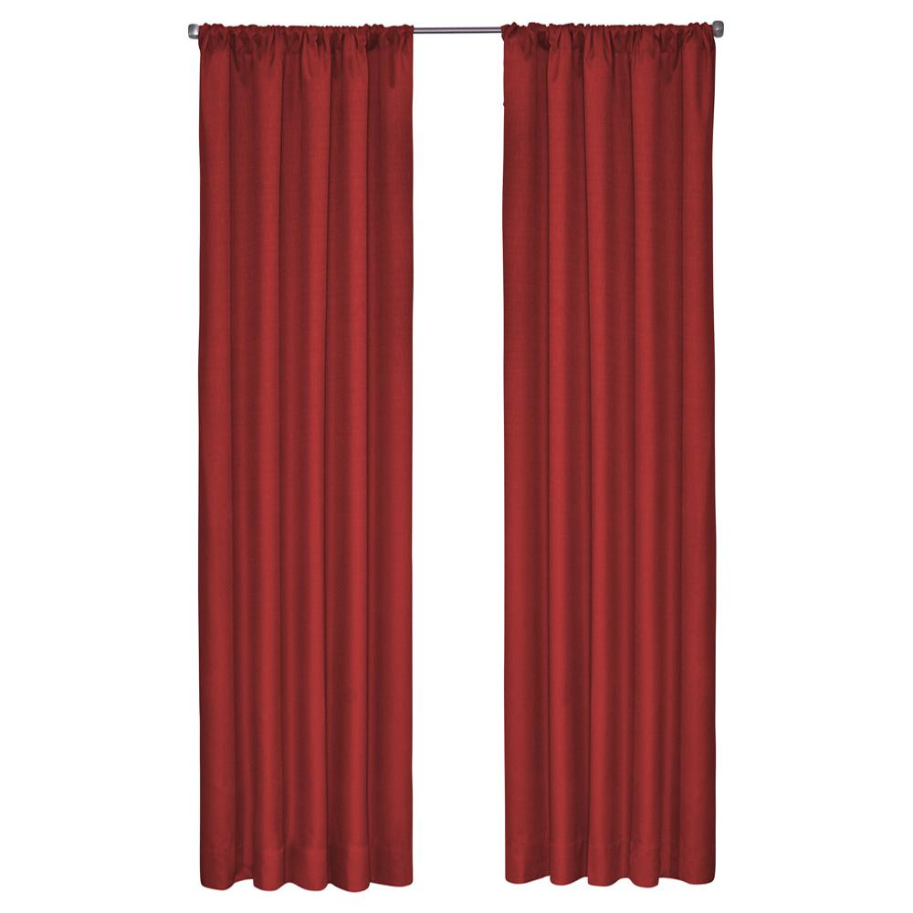 Eclipse Kendall Blackout Window Curtain Panel in Chili - 42 in. W x 54 in. L