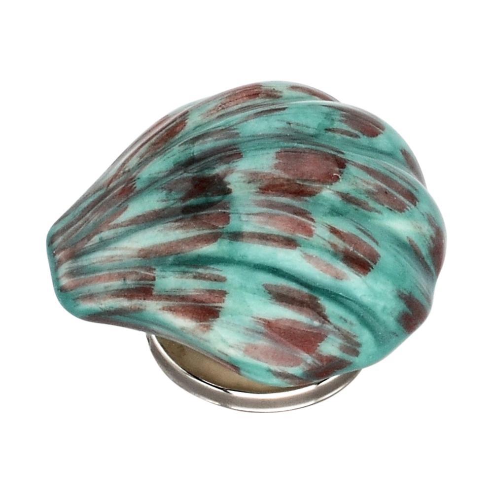 Sea Shell 1.85 in. Sea Green Cabinet Knob