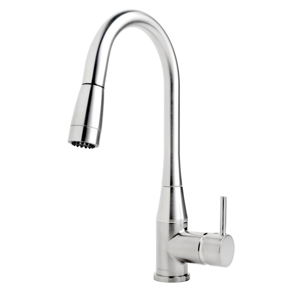 Sereno Single-Handle Pull-Down Sprayer Kitchen Faucet in Chrome