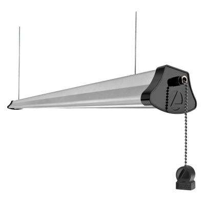 4 ft. Integrated 40-Watt Gray LED Cable-Mount Shop Light