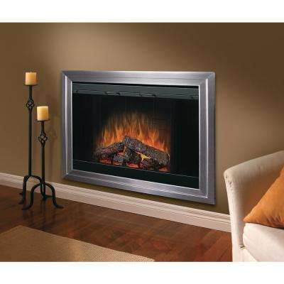 45 in. Built-In Electric Fireplace Insert with Brick Effect and Purifire