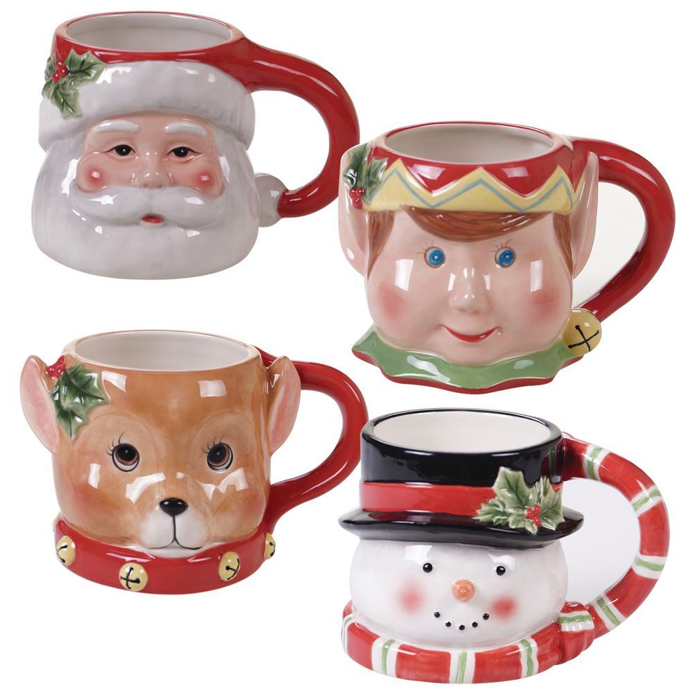 Believe 4-pc Multi-Colored 15 oz. 3-D Figural Mug Set