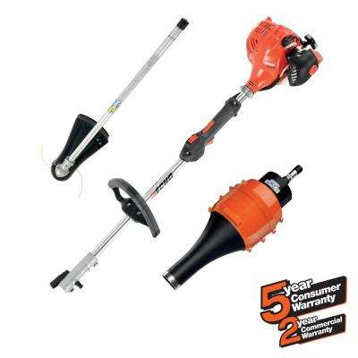 21.2cc Gas 2-Stroke Cycle PAS Straight Shaft Trimmer and Blower Kit